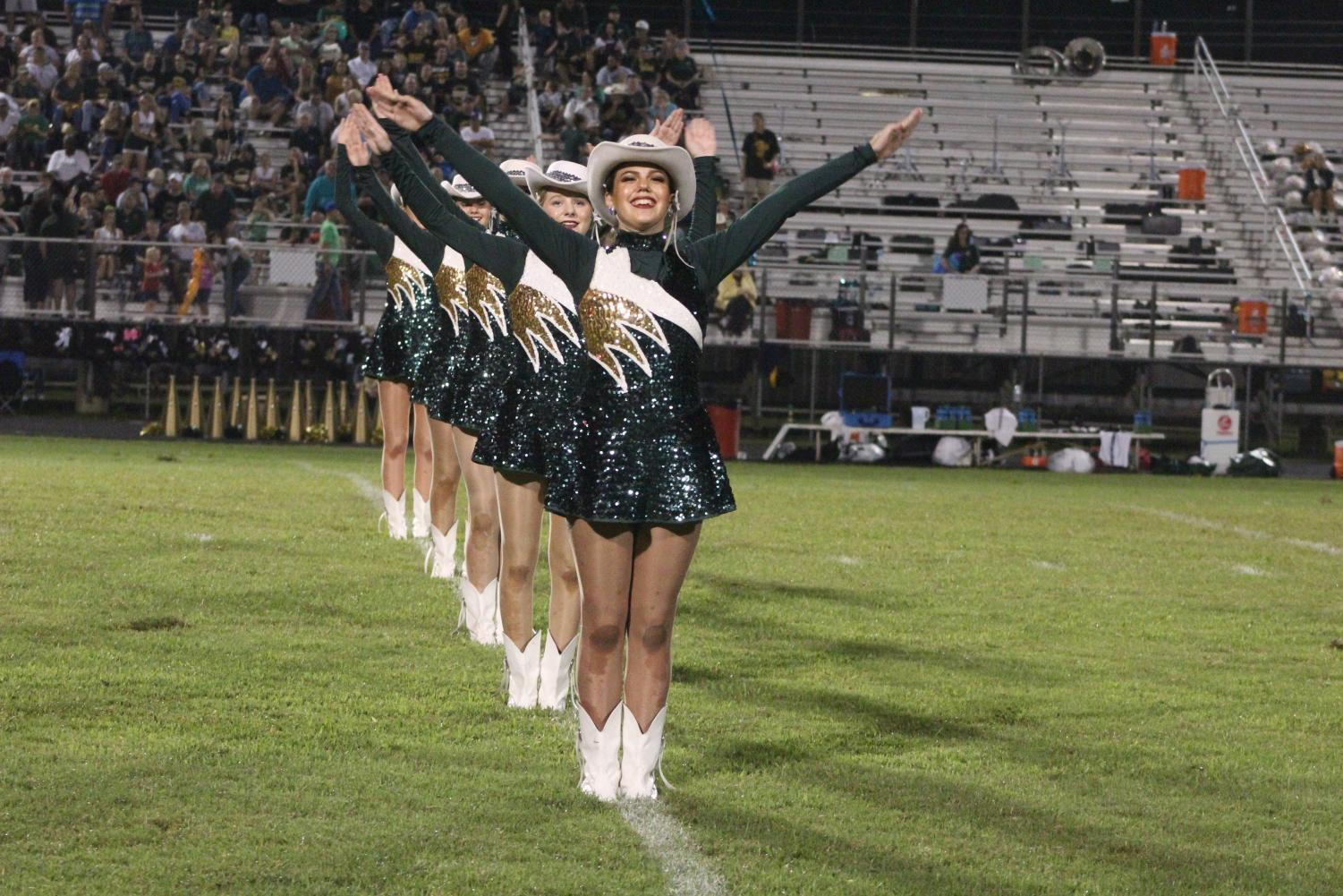 There are many new faces for next year's Honey Bear drill team.