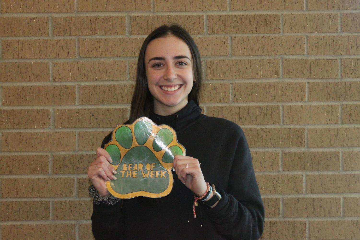 Junior Kylie Gross is the Bear of the Week.