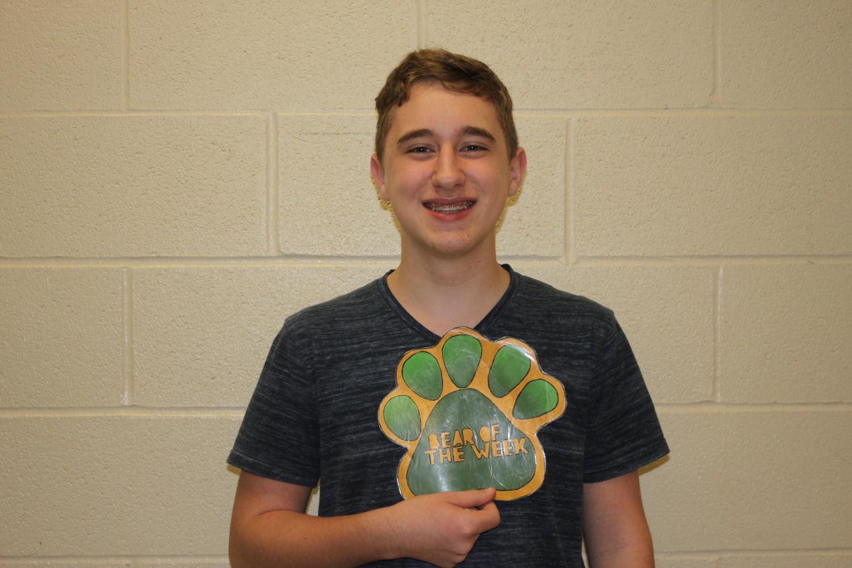 Freshman Matthew Sherwin is the Bear of the Week.
