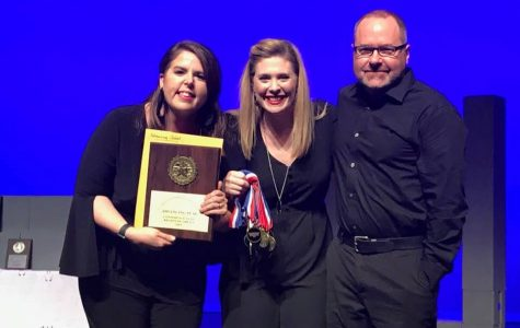 Even though it is her first year at LCM, Theatre Director Ashley Dennison (far left) has already racked up several awards.