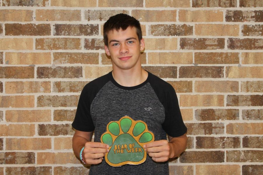 Sophomore Andy McDow is involved in football, track, and computer science.