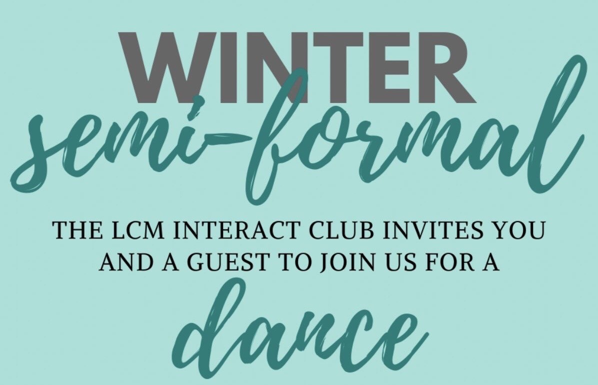 The second annual winter semi-formal will be held Saturday, Jan. 18.