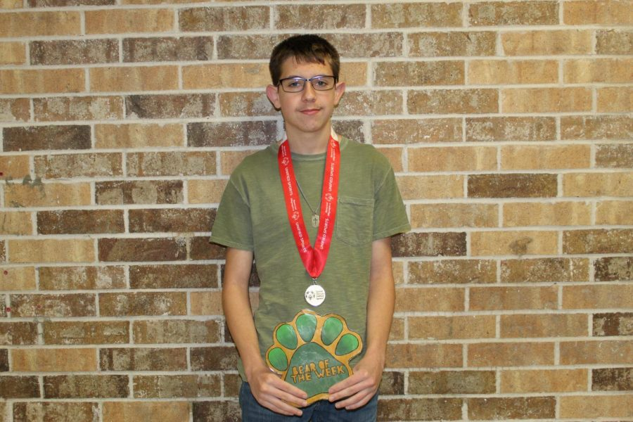 Junior Danny Placette won the gold medal at the Special Olympics State track meet two years in a row.