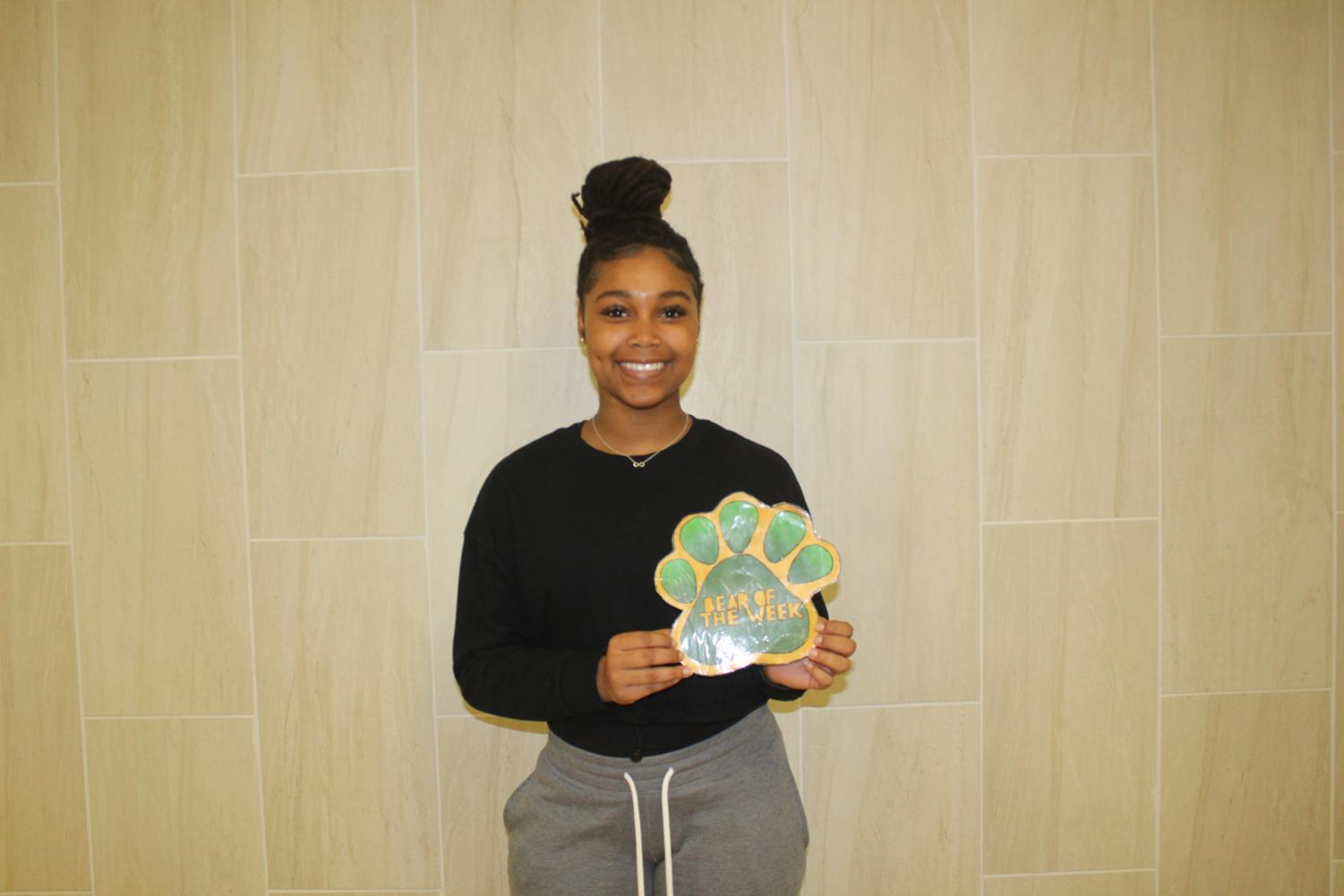 Sophomore Trinity Williams is involved in multiple organizations.