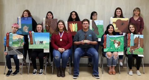 Several students brought home awards from the Houston Livestock Show and Rodeo art competition.