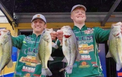Juniors Dakota Posey (left) and Brendon Brones (right) will compete at a national bass tournament in August.