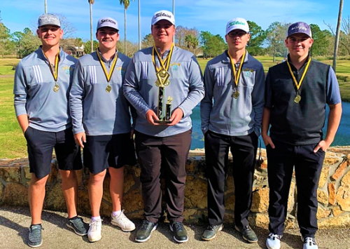 Boys golf wins Vidor Pirate Invitational