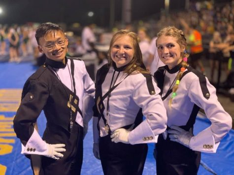 This years drum majors are Michael Vu, Kaylee Potter, and Matalyn Hill.