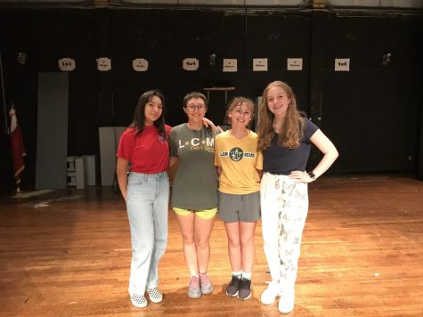 Troupe members have been working hard to prepare for their performance of The 25th Annual Putnam County Spelling Bee. Pictured, from left to right, are: Kiera Howington, Kayla McCarver, Alex Fenton, and Jessica Ridout.