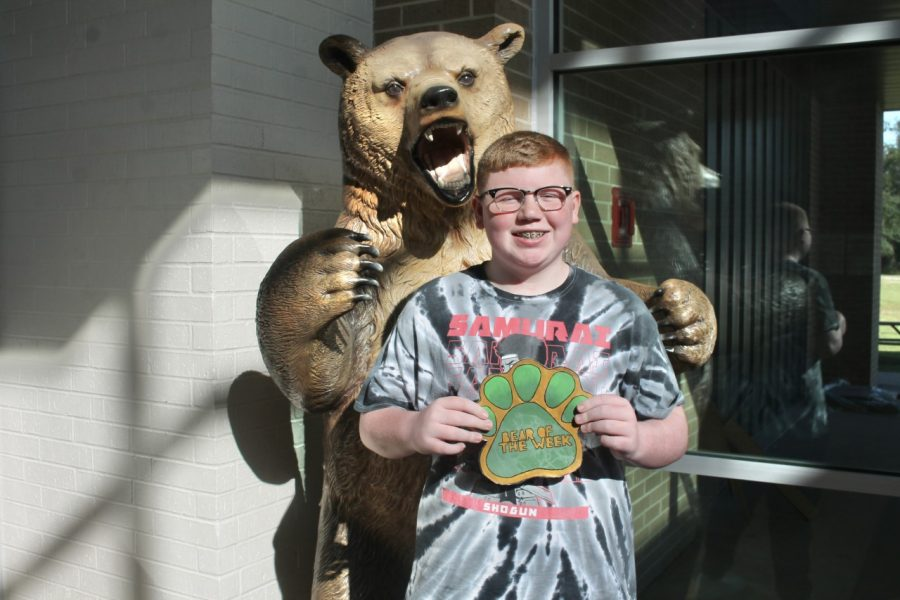 Freshman Kye Phillips was nominated by two different teachers to be Bear of the Week because of his respectful and positive attitude in the classroom.